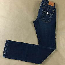 TRUE RELIGION Womens Billy Slim Factory Dirty Made USA Jeans Tag 25 Actual 26x34