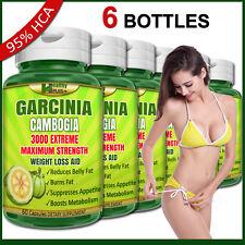 6 x GARCINIA CAMBOGIA Capsules 95% HCA Burn Belly Fat Weight Loss Slim Appetite