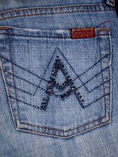 7 for All Mankind Size 28 Womens A Pocket Boot Cut Jeans