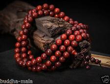 108 8mm Natural pterocarpus santalinus Red sandalwood Rosewood Prayer Beads Japa