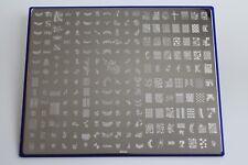Nailart Stamping Schablone Stempel Tattoo Nageldesign 32 x 26 cm Groß NK02