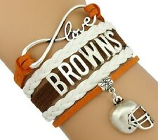 WHOLESALE LOT of 10 Cleveland Browns Football Infinity Bracelets