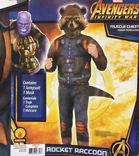 Rocket Racoon Costume Medium (8-10) Guardians of Galaxy NWT New Avengers