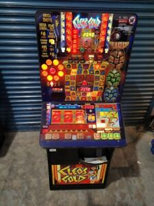 CLEOS GOLD  £100 JACKPOT PUB FRUIT MACHINE  - WIDE GLASS - SUPERB