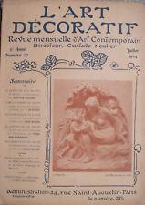 L'Art décoratif - juillet 1904 - peinture aux salons, l'ameublement, les objets