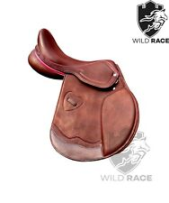 "WILDRACE Jumping close contact Leather saddle Size 16"", 17"", 18"""