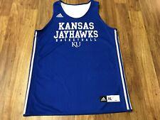 MENS XL - Vtg adidas NCAA Kansas Jayhawks Basketball Team Reversible Jersey