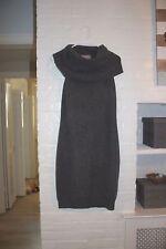 NWOT PLY 100% Cashmere GREY COWL NECK Turtleneck Sweater Dress Sz S GORGEOUS