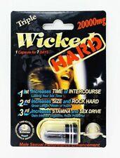 Wicked Black Hard 20000mg Triple Maximum Sexual Enhancement Pill