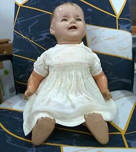 Vintage 1930s RELIABLE CANADA composition doll - Approx 24 inches tall