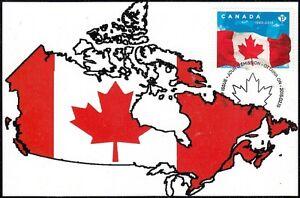 CANADA #2807.4 - 50th ANN of CANADA'S NATIONAL MAPLE LEAF FLAG. MAXIMUM CARD #4