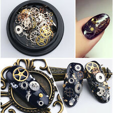 Steampunk Pieces Jewels Nail Art Accessories Decor Gears Watch Parts Manicure