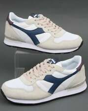 Diadora Camaro Trainers in White & Blue - lightweight runners, sneakers, shoes