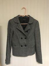 Massimo Dutti Woman Blazer Jacket Tweed 40 30 Wool Silk Cashmere Blend