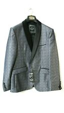 XPOSED MENS PATTERNED JACKET GREY/BLUE 40/50