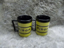 Vintage - Advertising Cup 0f Nikon Cameras  - The Professional's Choice (Pair)