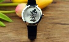 Ladies / Childs  Stunning One and Only Silver  Mickey Mouse  Watch Black  Strap