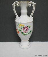 Vintage Porcelain Japanese Floral Double Handled Vase