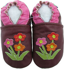 carozoo wildflower purple 2-3y soft sole leather toddler shoes