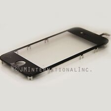 Black iPhone 4S Touchscreen w/ Frame Digitizer NO LCD Replacement Part USA