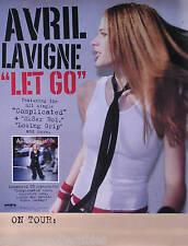 Avril Lavigne 2002 Let Go Original Tour Promo Poster