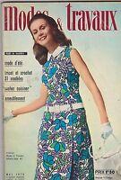 MAY 1970 MODES TRAVAUX vintage fashion magazine ( FRENCH )