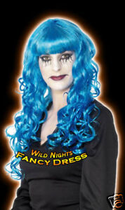 HALLOWEEN FANCY DRESS WIG # SIREN WIG SEXY CURLS BLUE