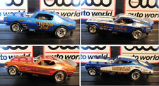 AUTO WORLD ~ NHRA RELEASE 12 LEGENDS 4 CAR SET ~ IN JEWEL CASE ~ FITS AFX, AW