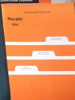 2000 Dodge CARAVAN VOYAGER CHRYSLER TOWN & COUNTRY Service Manual Set W RECALLS