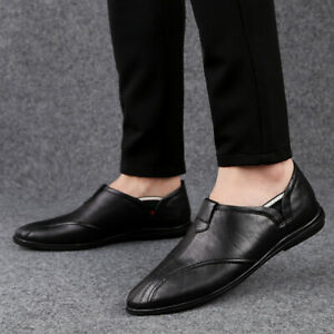 Mens Real Leather Shoes Padded Casual Formal Smart Moccasin Slippers Size UK 12