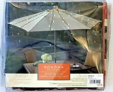 Outdoor 150 Clear Shooting Star Umbrella String Lights 62 in 15 Strands Sonoma