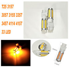Amber Parking Light T25 3057 3157 4157 33 SMD LED Bulb A1 For Plymouth AX