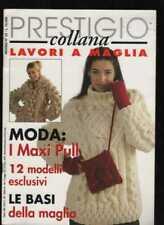PRESTIGIO 33 rivista collana LAVORI A MAGLIA maxi pull