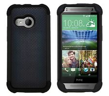 Shock Proof Heavy Duty Tough Armour Hard Case Cover for HTC One Mini 2 (m8 Mini) Black