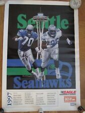 1997 SEATTLE SEAHAWKS SCHEDULE POSTER-