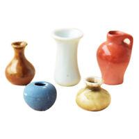 1: 12 Casas De Muñecas En Miniatura 5 Piezas De JarrÓN De Porcelana Con Dec R6Q8