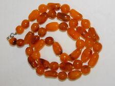 "Butterscotch Golden Amber color Plastic Bead Strand 30"" Necklace 7k 80"