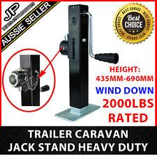 TRAILER PARTS CARAVAN JACK STAND 907KG RATED HEAVY DUTY SWIVEL STABILIZER LEG