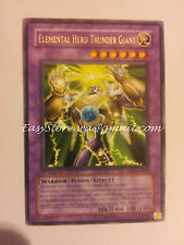 ELEMENTAL HERO THUNDER GIANT  DP1-EN011  YUGI YUGIOH  YGO