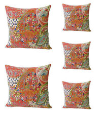 "Indian New Paisley Sofa Cushion Cover Kantha Pillow Case Cover Decor 16"" Throw"