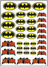 1/64, 1/87 - DECALS FOR HOT WHEELS, MATCHBOX, SLOT CAR: BATMAN