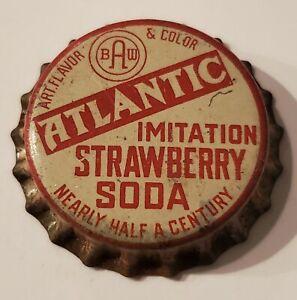 Atlantic Strawberry Soda Cork Bottle Cap; Port Chester, NY; Unused