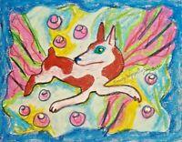 RAT TERRIER Fabulous Dog Pop Vintage Style Art 8 x 10 Signed Giclee Print