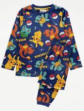 Pokemon Characters Boys Pyjama Set Size 9-10 Years Old