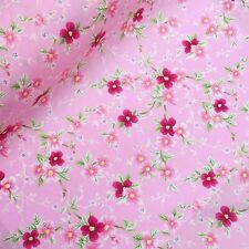 Pink small roses vintage retro floral fabric 100% cotton Rose Hubble HALF METRE