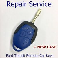 BLUE Ford Transit Key Fix Fob Repair New Case included