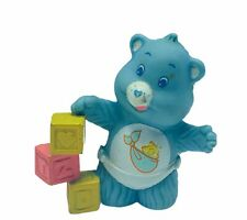 Care Bears vtg toy figure 1983 ACC Kenner miniature blue baby tugs build block 2