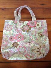 Gap Pink Pastel Sparkle Corduroy Flowers Fairies 100% Cotton Tote Bag Purse