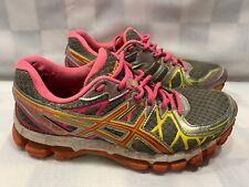 ASICS Gel Kayano 20 Women's Running Shoes Size 7 Gray Pink T3N7N