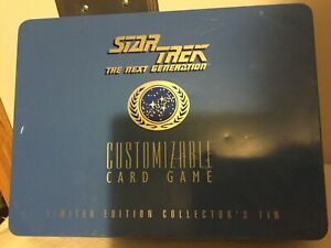 1995 STAR TREK THENext Generation Customizable CARD Game CollectibleTin Open Box